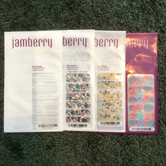 Jamberry Other - Jamberry Nail Wrap Bundle Florals